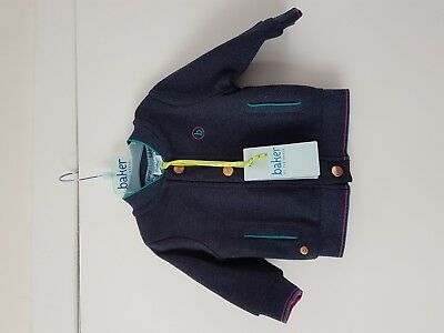 New With Tag  Ted baker  Baby Boy  Twill Sweat Bomber Age 0-3 Months