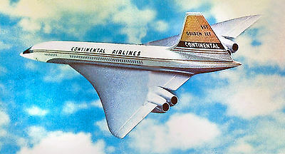 """Continental Airlines Concorde SST ((8.5""""x11"""")) Print"""