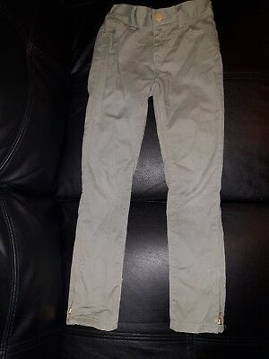 Blue Zoo Uk Girls Size 8 Years  Skinny Khaki Green Capri Stretch Jeans