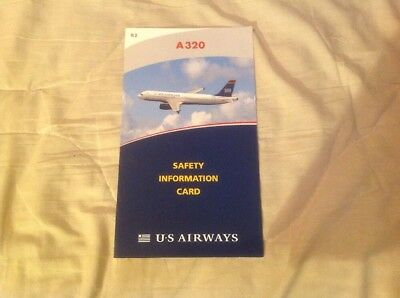 Us Airways A-320 Safety Card Dated  6/10
