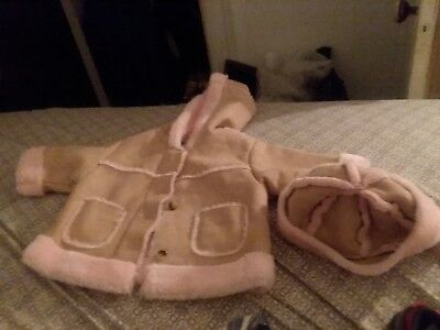 baby girl coat and matching hat