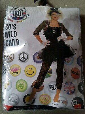 B NEW Adult Smiffys Back To The 80s Wild Child Halloween Costume Size L