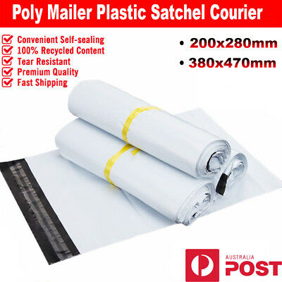 Plastic Poly Mailer Courier Bag Mailing Satchel Post Bag 200x280mm 380x470mm