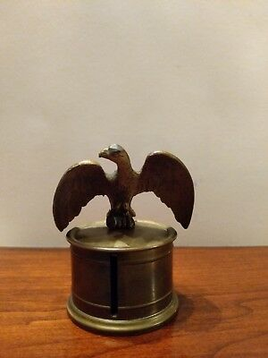 Brass Stamp Holder/Dispenser With American Eagle