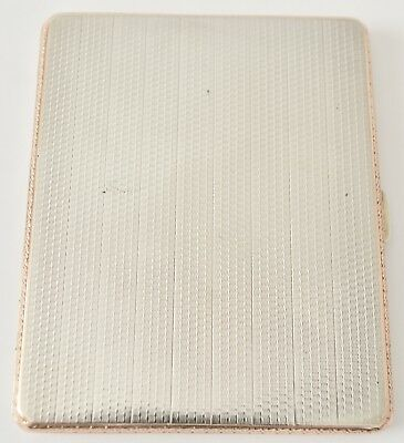 Sterling Silver Rose Gold Luxury Cigarette Case George V John Henry Wynn 1929