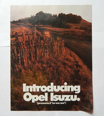 Opel Isuzu Dealership Sales Brochure (1977)
