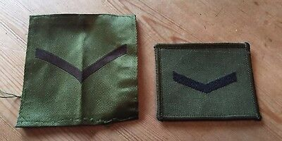 2 x olive drab Lance Corporal patches