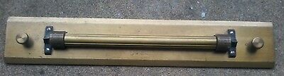 Antique Brass Rolling Straight Edge Architect Surveying by Dietzgen of Germany
