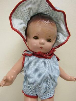 "Vtg 1930s Effanbee Composition PATSY JR Doll 11"" ORIG CLOTHES?"
