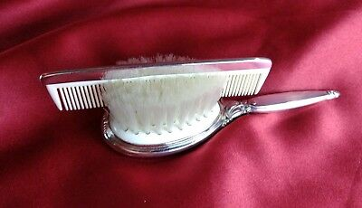 Antique Saart Bros. & WEB Sterling Silver Child's Brush And Comb Set