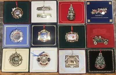 Beautiful White House Historical Association Christmas Ornaments Lot 12