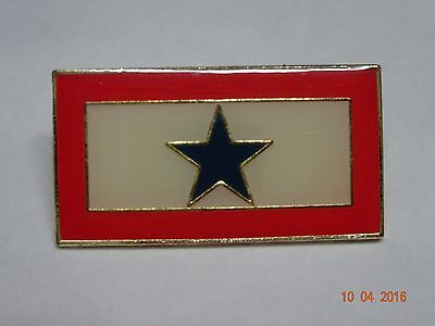Blue Star Support our Military lapel pin  very nice   New
