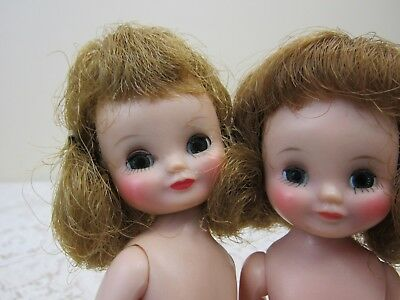 PAIR Vtg 1950s American Character BETSY MCCALL Dolls NUDE + Clothing