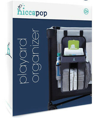 hiccapop Playard Nursery Organizer and Diapers Organizer | Baby Diaper Caddy