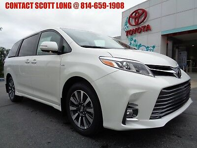 2019 Toyota Sienna New 2019 Sienna All Wheel Drive Limited Premium New 2019 Sienna Limited Premium AWD Blizzard Pearl Navigation Leather Sunroof