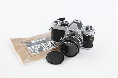 NIKON FM Film Camera With 50mm Lens Serial - 2422955 Untested