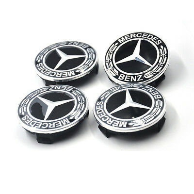 4PCS 75mm Wheel Center Hub Caps Cover Rim Logo Badge Emblem For Mercedes-Benz