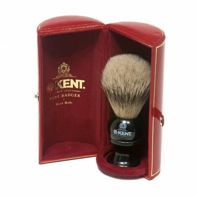 Kent Silvertip Badger Shaving Brush - BLK4 Black in box