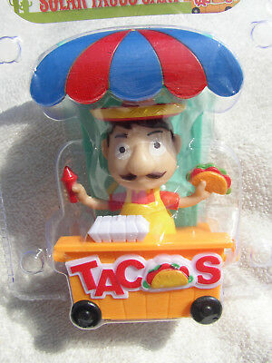 New 2018 Solar Mexican Taco Stand Dancing Bobble Head Car Auto Toy Mip Free Ship