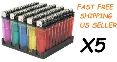 250 Classic Full Size Lighter BULK WHOLESALE Disposable Assorted Color Lighters