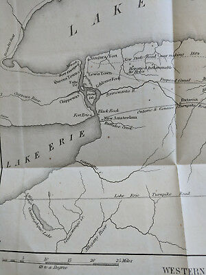 1809 Map of Western New York Printed 1850