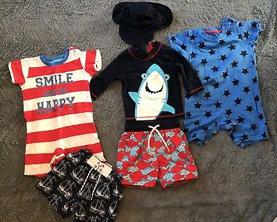 BABY BOYS Holiday CLOTHES BUNDLE - Swimwear M&S Next Mothercare SIZE 9-12 MONTHS