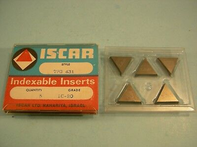 Qty of 5 New TPG-431  IC-20  Iscar Carbide Turning Inserts