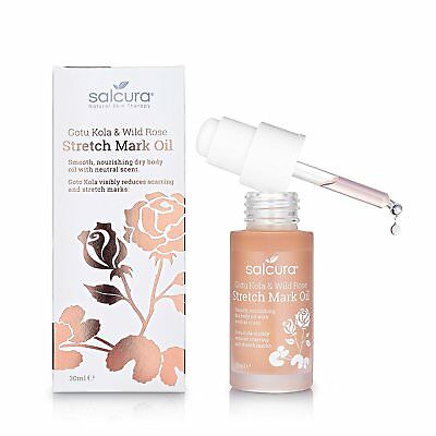 Stretch Mark Therapy by Salcura Gotu Kola & Wild Rose Stretch Mark Oil 30 ml