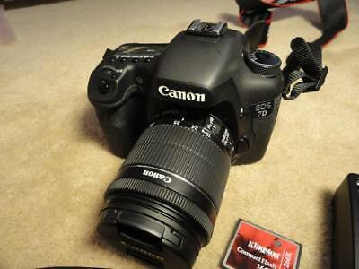 Canon EOS 7D 18.0 MP Digital SLR Camera (BLACK) Canon EFS 18-55mm Lenses & More