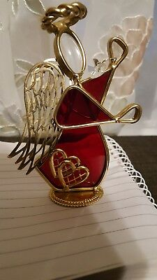 Perfect Christmas ornament Heavenly angel, Stained Glass , Suncatcher hand made