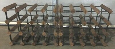24 Bottle Timber Wine Rack - (2 x 12 racks )