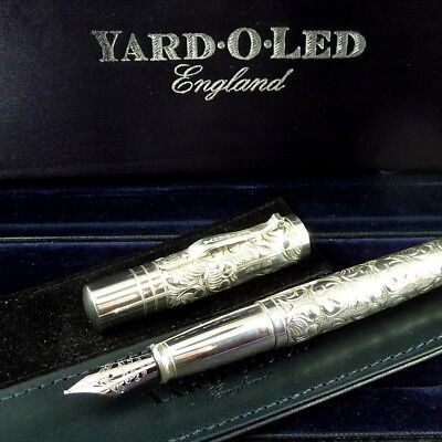 YARD O LED VICTORIAN GRAND STERLING, Hand Engraved, Excellent, Boxes, NO RESERVE
