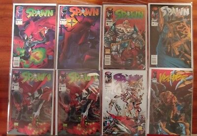 Spawn Comic Books Lot of 8 includes #1,#2,#9