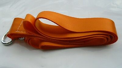 x 2Tow Rope / Towing Road Recovery Strap with Two Shackles 4 Metre 5 TON