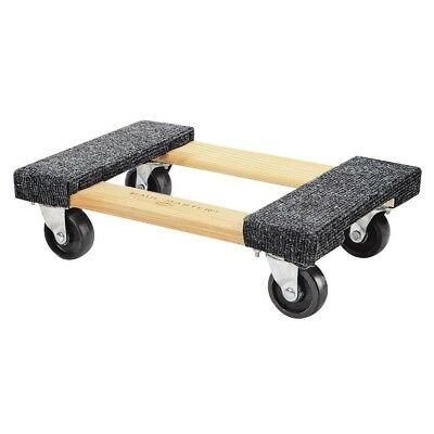 1000 lb Capacity Mover Furniture Moving Dolly Hardwood 12''x18'' Swivel Casters
