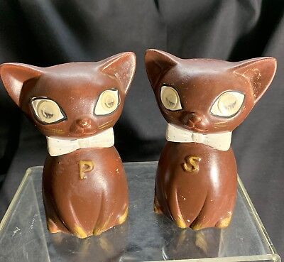 Super Kitch 1950s Meow Cat Salt & Pepper Shakers