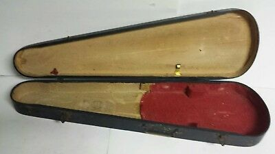 Vintage AntiqueGSB Wood Coffin Fiddle Violin Case - Used - Free Shipping!