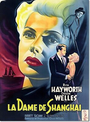 The Lady from Shanghai La Dame de Shanghai Vintage Movie Poster Reproduction