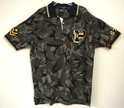 d26100482 Polo Ralph Lauren Limited Edition Camo P Wing Varsity Military Polo Size  2XLT