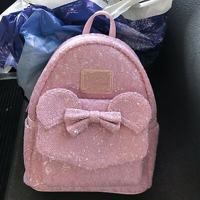 c54f1470c98 DISNEY PARKS Millennial Pink Backpack Loungefly EXCLUSIVE Brand New IN HAND