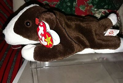 3b8fa4b8bc9 TY BEANIE BABY Bruno (dog) 1997 Retired with tag errors -  125.00 ...