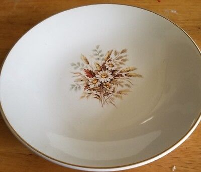 American Limoges Glamour Sundale Salad/soup Bowls Set Of 6  Warranted 22K Gold