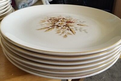 American Limoges Glamour Sundale Dinner Plates Set Of 6  Warranted 22K Gold