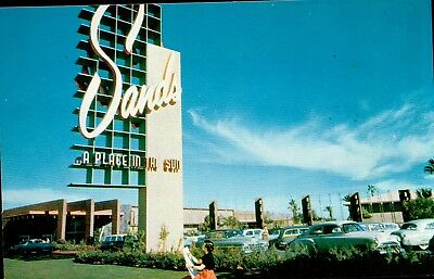 Postcard Of The Sands Casino & Hotel In Las Vegas NV Long Ago