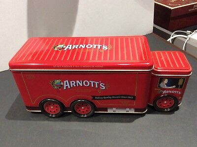 Arnott's Red Truck Biscuit Tin Delivery Van A-141