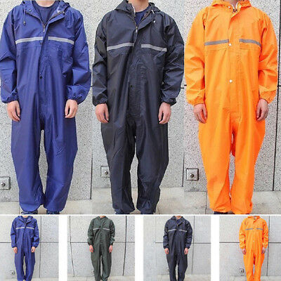 US Motorcycle Rain Suit Raincoat Overalls Waterproof Men Coat Work Outdoor
