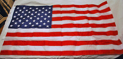 American Flag 3 X 5 Nylon W/100% cotton bunting Flown Over US Capitol With COA