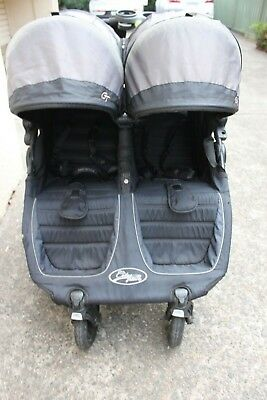 Used Baby Jogger City Mini Gt Double Black Grey Raincover Pick Up Only Ashfield