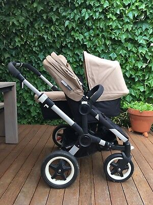 Bugaboo Donkey Duo Pram / Stroller With Bassinet And 2 Seats
