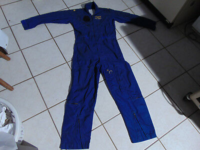 32aeed6bde9 VINTAGE US NAVY Pilot Worn Blue Coveralls